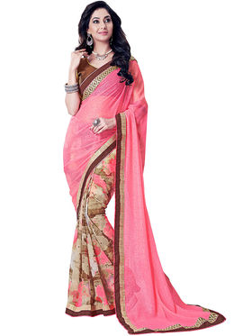 Nanda Silk Mills Fancy Print &Georgette  Party Wear Saree_WOMANIYA-3809