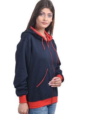 Eprilla Plain Sweatshirt - Blue -eprl68