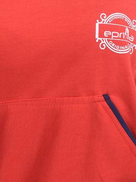 Eprilla Plain  Sweatshirt - Red -eprl70