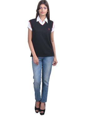 Pack of 2 Eprilla Spun Cotton Plain Sleeveless Sweaters -eprl09