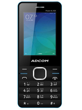 Adcom X20 Power XL Dual Sim Mobile-Black & Blue