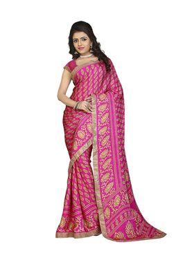 Khushali Fashion Silk Crepe Jacquard Saree(Rani,Beige)_YNCHN20541