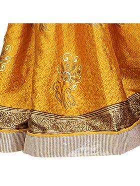 Khushali Fashion Silk Crepe Jacquard Saree(Yellow)_YNCHN20544