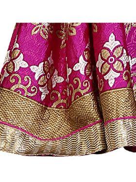 Khushali Fashion Silk Crepe Jacquard Saree(Rani,Beige)_YNCHN20548