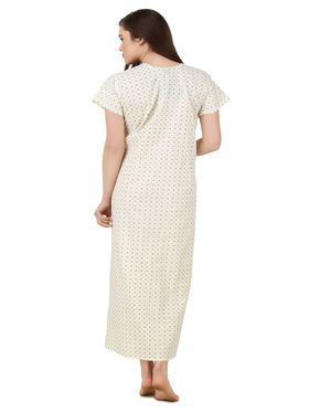 Fasense Cotton Printed Nightwear Long Nighty -YT018A1