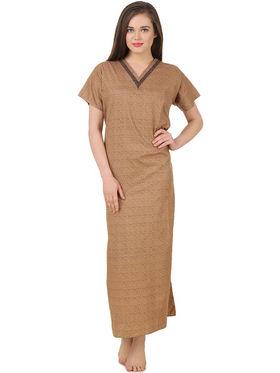 Fasense Cotton Floral Print Nightwear Long Nighty -YT019A1