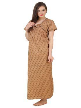 Fasense Cotton Printed Nightwear Long Nighty -YT020A1