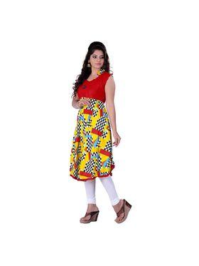 Viva N Diva Cotton Rayon Printed Kurtis -Zeesha-Vnd-2002-B