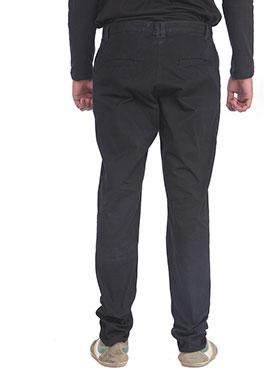 imFab Plain Cotton Chinos for Men -Black