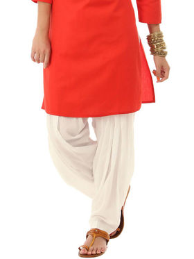 Combo of 2 Javuli Plain Pure Cotton Semi Patiala Salwar-ja69