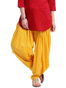 Combo of 3 Javuli Plain Pure Cotton Semi Patiala Salwar-ja54
