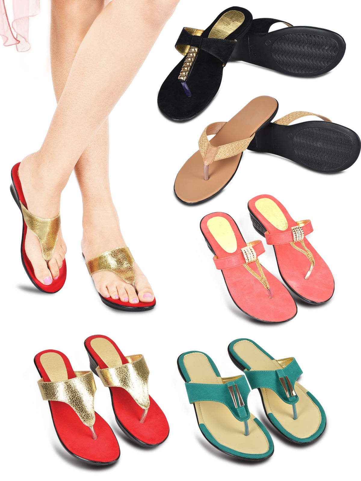 6c066180124939 Buy 5 Pairs of Ladies Comfort Footwear Online at Best Price in India on  Naaptol.com
