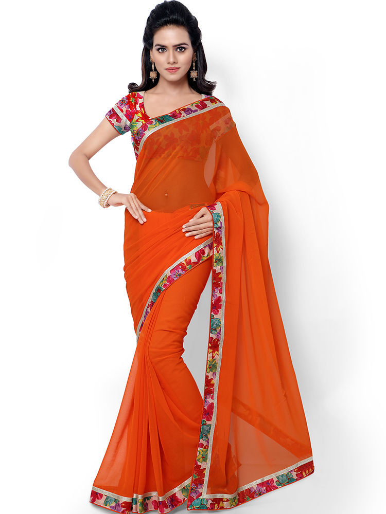 Buy florence embroidered faux georgette saree fl
