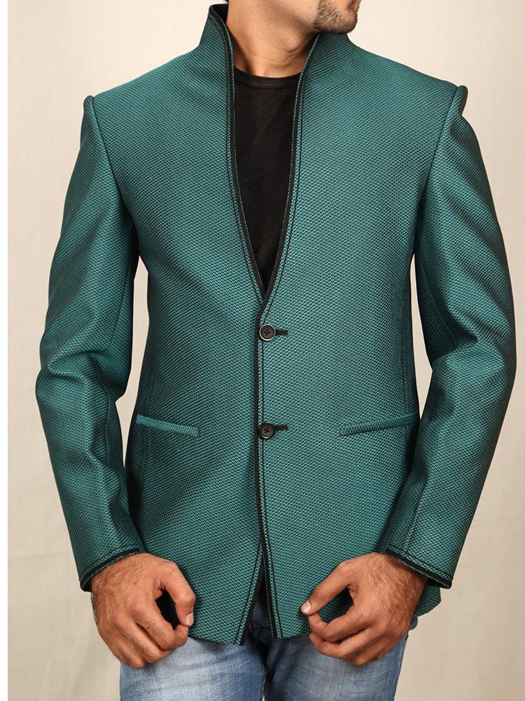 Buy Runako Solid Regular Full Sleeves Semi Formal Blazer For Men - Green Online At Best Price In ...
