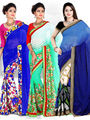 Pack of 3 Zoom Fabrics Embroidered Saree_3227 ,3195 ,3163