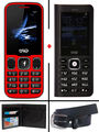 Combo of Trio ( T5000 Powerbank cum Feature Phone - Black + T3 Star - Red ) with Belt & Wallet