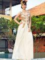 Thankar New Western Style Designer Heavy Embroidery Gown_Tkr08 - White