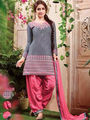 Thankar Embroidered Patiyala Style Salwar Kameez_Tkr95 - Grey