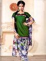 Adah Fashions Designer Cotton-Silk Dress Material - Green - 114-208