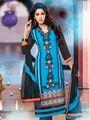 Adah Fashions Georgette Semi Stiched Salwar Kameez - Blue - 498-3001