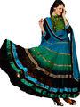 Adah Fashions Net Embroidered Semi Stitched Designer Suit - Multicolour