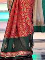 Charming Cream & Red Saree from Aaha Enna Porutham (1612)
