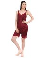 Fasense Satin Nightwear - Maroon-DP042 D