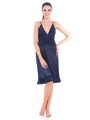 Fasense Satin Slip Nightwear - Navy Blue
