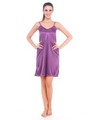 Fasense Satin Slip Nightwear - Purple-DP059 B