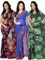 Pack of 3 Florence Printed Faux Georgette Saree - FL_Dani6_ 3_2