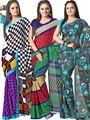 Pack of 3 Florence Printed Faux Georgette Saree - FL_Dani_3_8