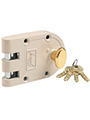 Godrej Ultra Vertibolt 1Ck Rim Lock - Beige brass