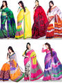 Enchanting Set of 7 Italian Chiffon Sarees (7ICH1)