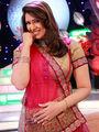 Lavish Pink & Cream Lehenga Saree from Aaha Enna Porutham (803-G)