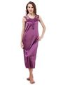 Pack of 6 Fasense Satin Nightwear Set- Purple