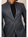Runako Solid Regular Full sleeves Party Wear Blazer For Men - Blue_RK5030