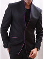 Runako Solid Regular Full sleeves Party Wear Blazer For Men - Black_RK5056