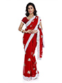Designer Chiffon Saree - Red