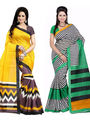 Pack of 2 Thankar Printed Bhagalpuri Saree -Tds137-209.210