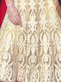Viva N Diva Net Embroidered Lehenga - Cream - Nagma-13102